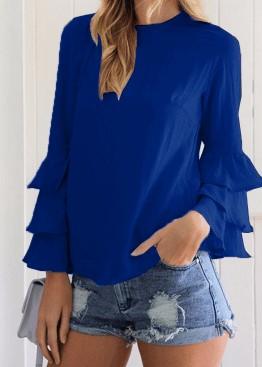 Модна блузка з об'ємним рукавом