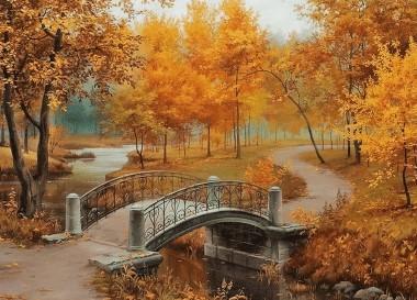 Вишивка осінь