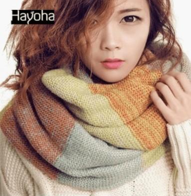 Кольоровий шарф-комір