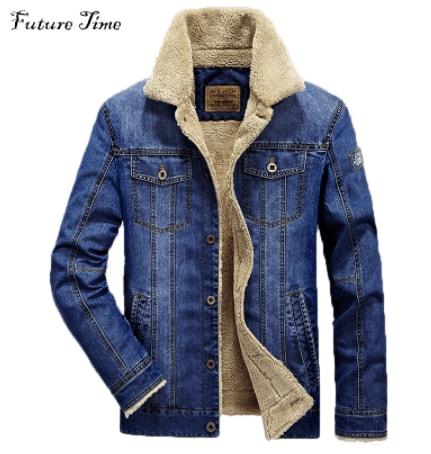 Джинсова зимова куртка