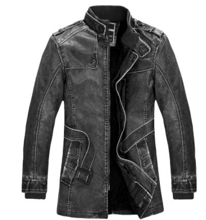 китайська шкіряна курточка