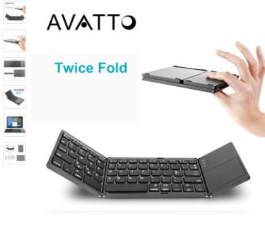 Розкладна Bluetooth-клавіатура